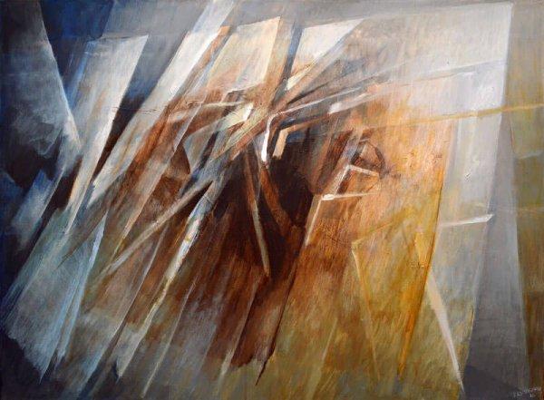 Moving Toward - acrylic on canvas, 36 x 48, contemporary abstract art