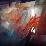 Contemporary fine art on canvas - abstract style