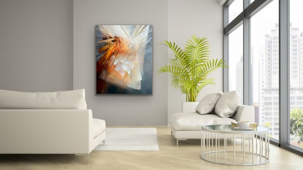 Banding together - Abstract contemporary large painting