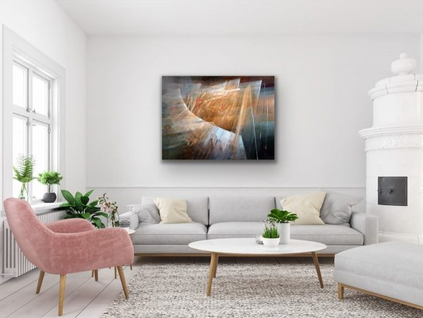 Beacon - abstract contemporary geometric painting