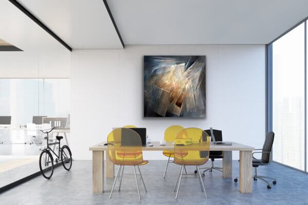 Catching the light - contemporary painting in the conference room