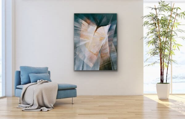 Core - geometric abstract large painting