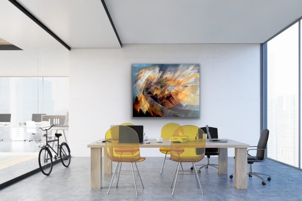 Cycle - abstract contemporary painting in the conference room