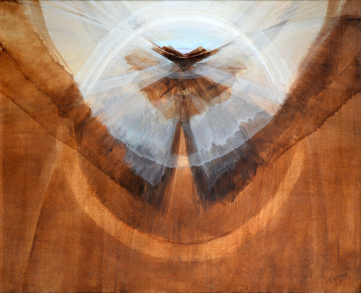 Encircled-Flight Contemporary painting, 38x46