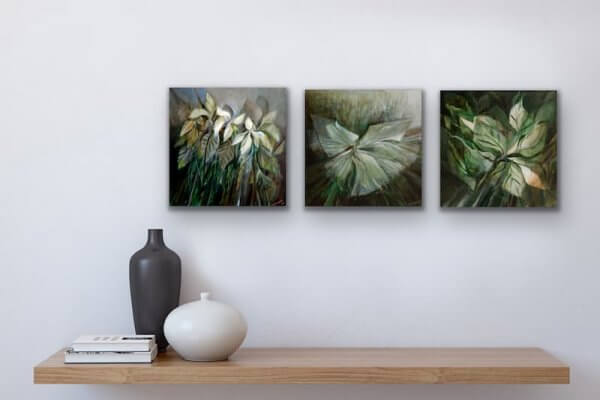Flowers square paintings