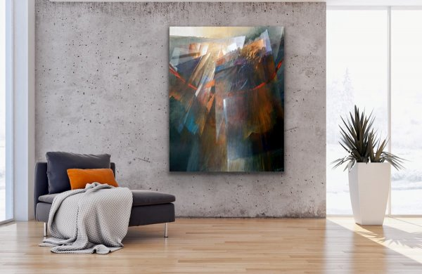 Hanging on - Abstract geometric contemporary painting