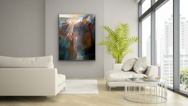 Hanging on - Colorful abstract painting