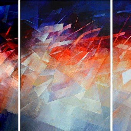 Journey-Triptych painting (3 panels)