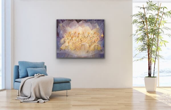 Jubilation - abstract dance painting on large wall