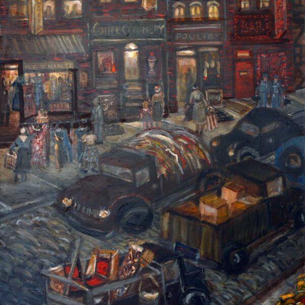 Logan Street Scene - Hill District Paintings
