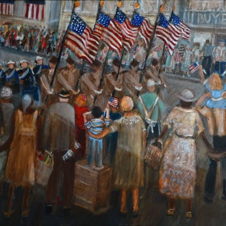 Parade on Fifth Ave - Hill District Paintings