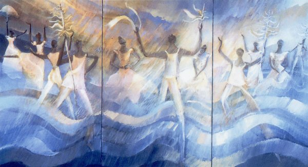 Procession to the water - Dance Painting