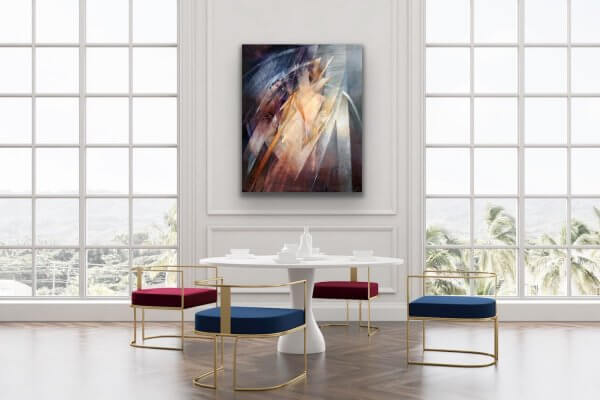 Sentry painting in large living room