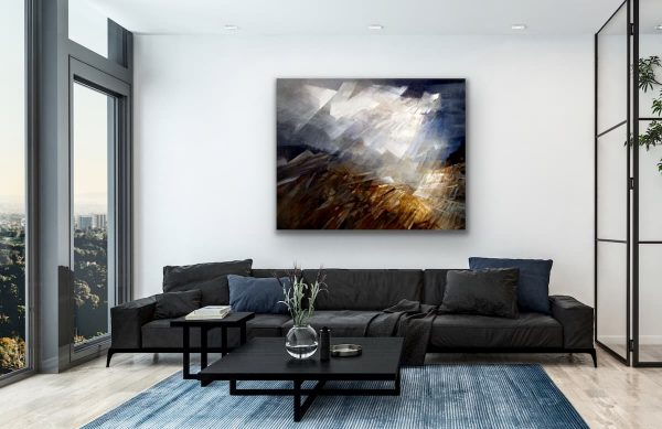 Skylights - large abstract contemporary painting of clouds landscape
