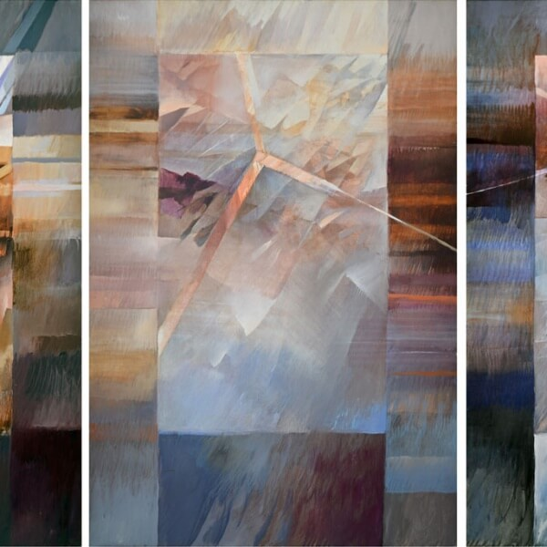 """""""Why, Why, Why"""" Triptych painting - 3 panels"""
