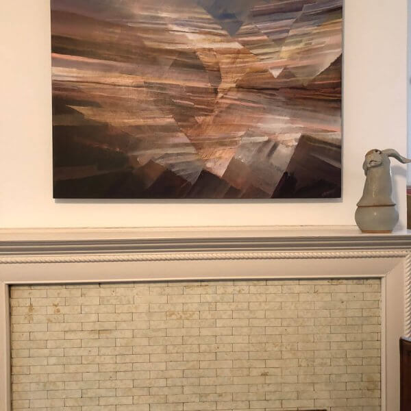Strata IV - Abstract Art over the fireplace